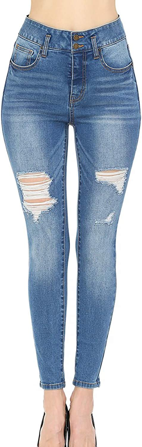 Wax Jean High-Rise Elastic Stretch Jeans 2021 model Destructed with Skinny excellence