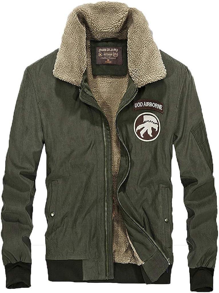 Men's Warm Winter Military Coat Windproof Lightweight Plus Size Soft Outwear Zipper Jacket