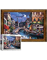 [Puzzlelife] Streets of Venice | 1000 Piece - Large Format Jigsaw Puzzle. Can be Enjoyed Puzzle Game by All Generation. Beautiful Decoration, Pleasant Play.…