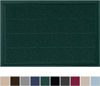 Gorilla Grip Original Durable Indoor Door Mat, 35x23, Large Size, Heavy Duty Doormats, Commercial Waterproof Stripe Doormat, Easy Clean, Low-Profile Mats for Entry, High Traffic Areas, Hunter Green