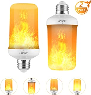 Led Light Bulbs,Realistic Flame Effect Light Bulbs,7W E26 4 Modes Fire Flickering Smart Light Bulb for Halloween Decorations,Christmas Lights,Home,Hotel,Bar,Party,Cafe Decoration(White)