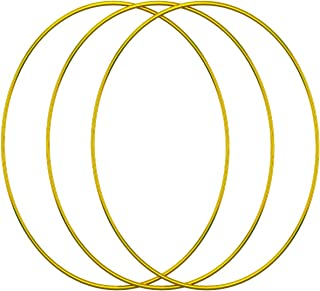 DILNAZ ART 3 Pack 20 Inch Large Metal Floral Hoop Wreath Macrame Gold Hoop Rings for DIY Wedding Wreath Decor, Dream Catch...