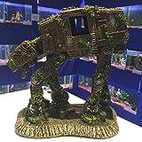 Mezzaluna Aquariumdekoration in Form eines Roboterhundes, Weltraum-Stil, große Skulptur für Fischaquarien, tolles Geschenk