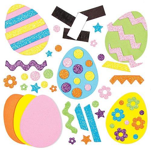 """Baker Ross Bastelsets für Deko-Magneten """"Osterei"""" zum Kombinieren (10 Stück) – Bastelidee zu Ostern für Kinder zum Gestalten und Dekorieren"""