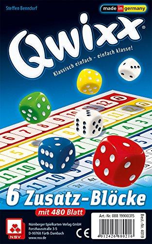 Nürnberger-Spielkarten 4019 - Qwixx Zusatzblöcke