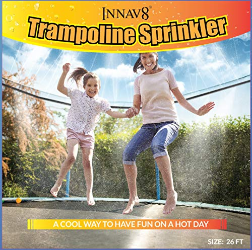INNAV8 Trampoline Sprinkler Waterpark 26FT - FULLY ASSEMBLED Trampoline Waterpark Sprinkler - Best Outdoor Summer Fun Toys For Kids Outside - Trampoline Water Sprinkler for Trampoline Water Park Games