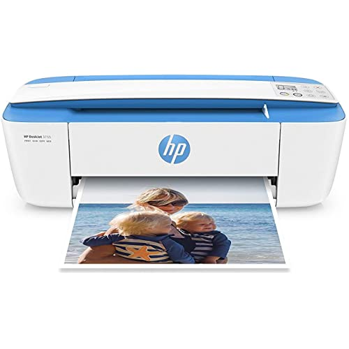 HP DeskJet 3755 Compact All-in-One Wireless Printer, HP Instant Ink, Works with Alexa  - Blue Accent (J9V90A)