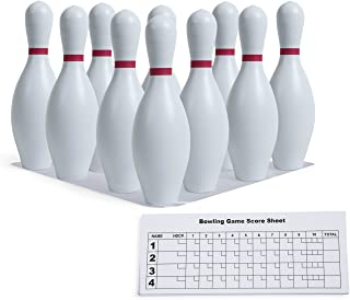 Champion Sports Plastic Bowling Pins: Set for Training & Kids Games