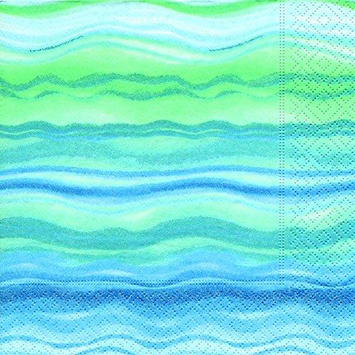 PAPER+DESIGN Servietten 20 St. FSCMix 33 x 33cm, Blue waves