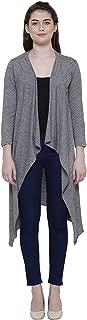 ShopOlica Women's Cotton Shrugs Top Open Front Long Length Full Sleeves Waterfall Cardigan