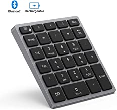 Bluetooth Numeric Keypad Rechargeable, Jelly Comb Portable Wireless Bluetooth 28-Key..