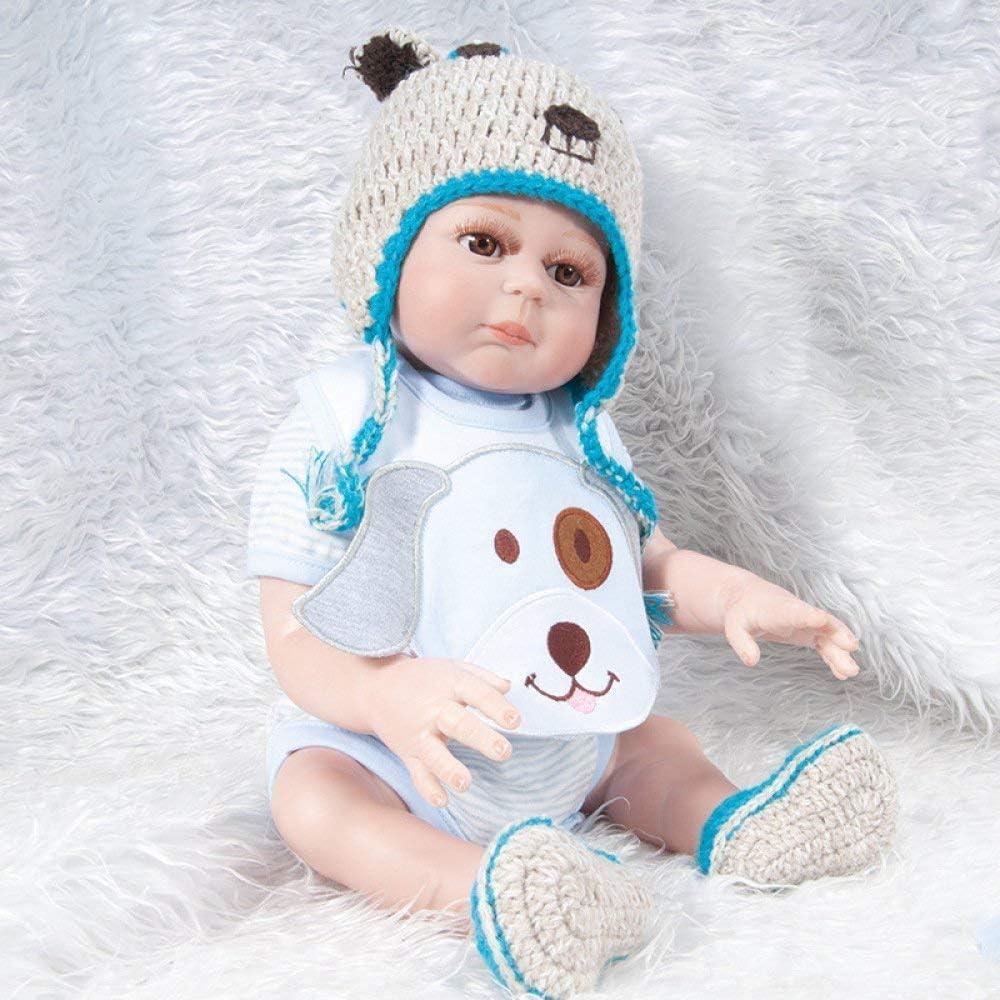 Reborn-poppen, simulatie baby 57 cm Wedergeboorte-pop Siliconen kinderspeelgoed, 57 cm, verzorgende poppen 57cm