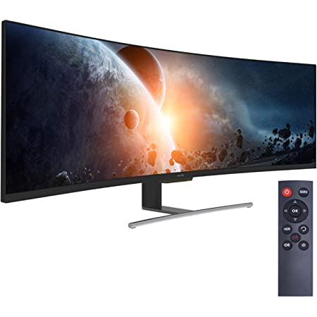VIOTEK SUW49C 49-Inch Super Ultrawide 32:9 Curved Monitor with Speakers, 144Hz HDR 4ms 3840x1080p, FreeSync, GamePlus, VESA & More