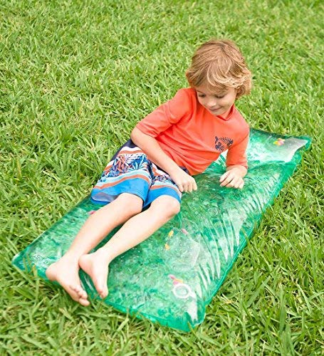 HearthSong Small Rectangle AquaPod Outdoor Water Play Mat with Colorful Fish, 48 L x 24 W