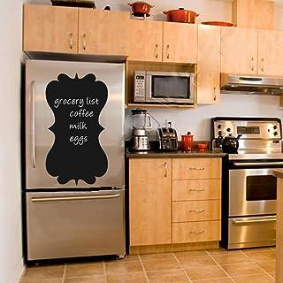 BATTOO Chalkboard Wall Decal - Refrigerator Menu Chalk Board Fancy Frame - Eco Friendly Child Safe CPSIA Compliant Vinyl W...