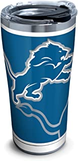 Tervis NFL Detroit Lions Rush Stainless Steel Tumbler With Lid, 20 oz, Silver