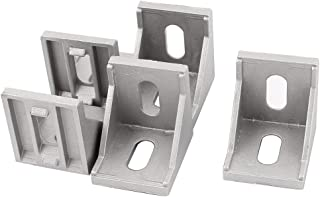 uxcell a15052100ux0174 40mmx40 mm 2 Holes 90 Degree Corner Brace Angle Bracket (Pack of 5)