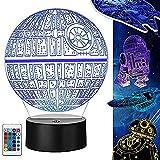 Star Wars Lamp 3D Illusion Night Light 5 piezas Lámpara 3d con cable de carga y 4 modos de flash 16 colores Cambiando los regalos perfectos para niños y fanáticos Star Wars 5 pack USB recargable