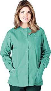 Natural Uniforms Women's Warm Up Jacket Medical Scrub Jacket (XS to 5XL) (Small, Surgical Green)