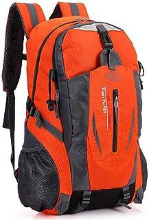 40 L New Men Nylon Travel Backpack Large Capacity Camping Casual Bagpack 15 Inch Laptop Backpack Women Outdoor Hiking Bag(Orange,30 * 53 * 16cm)
