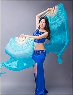 DZSW Yhdzswb. Ventilatore da Donna da Ballo da Donna Velo 1 Paio di Ballerini di Colore sfumato Pratica Pratica Puntelli V...