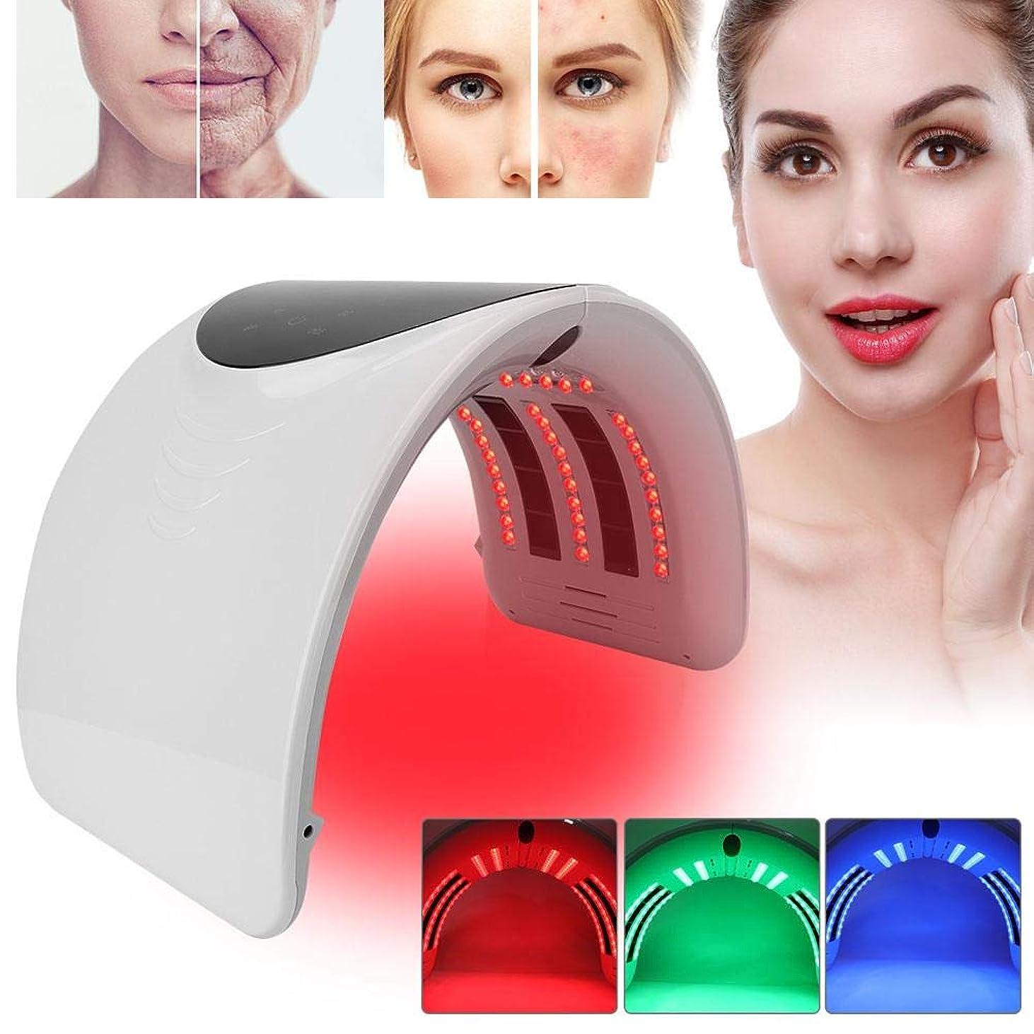 バズ耐えられる傾くPDTの軽い療法の美顔術機械、6色の新しい折り畳み式アクネの取り外しのスキンケアの処置機械(01)