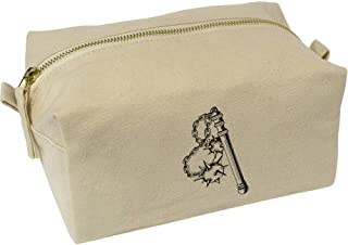 'Twin Ball Flail' Canvas Wash Bag / Makeup Case (CS00018441)