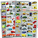 Cars and Trucks Stickers Party Supplies Pack Toddler -- Over 160 Stickers (Cars, Fire Trucks,...