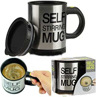 TIKTOK Hot Sale Auto Mixing Tea Cup Stainless Plain Lazy Self Stirring Mug Coffee Soup