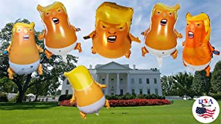 3 Large Trump Baby Balloons - Inflatable Balloons - Funny Party Balloons - Donald Trump Novelty