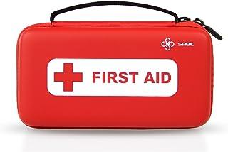 Kit Compacto SHBC de Primeros Auxilios (152 Piezas) Suministros médicos FDA de emergencias para el Hogar, Aire Libre, Barco, Coche, Lugar de Trabajo, Viajes, Senderismo y Escuela, Supervivencia