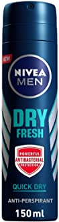 Nivea Men Dry Fresh Antibacterial Deodorant Spray, 150ml BBD1003