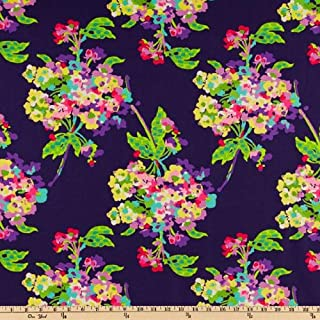 Amy Butler Love Water Bouquet Midnight Fabric by The Yard