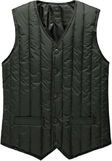 Howme-Men Single Breasted Western Relaxed-Fit Quilted Jacket Vest