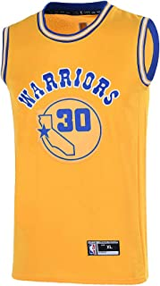 Youth 8-20 Golden State Warriors #30 Stephen Curry Jersey for Boys Yellow