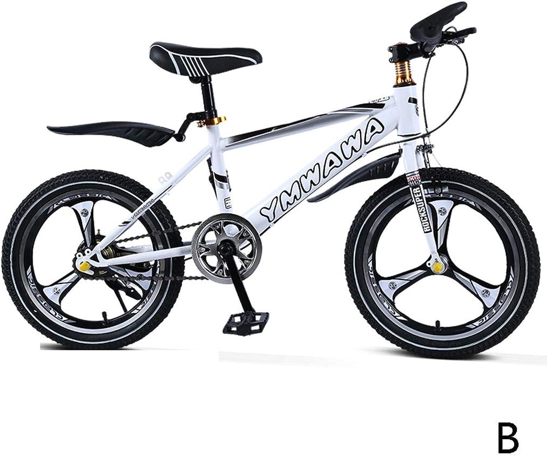 Kinderfahrrder Mountainbike-Jungenfahrradmdchen des Studentenfahrrades einzelner Geschwindigkeit 16 Zoll, EIN Radstahlrahmen des hohen Kohlenstoffs (Farbe   B, Größe   16inches)
