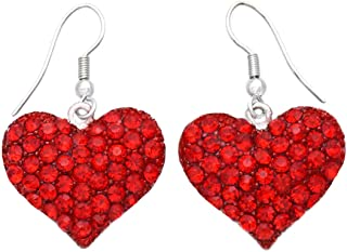 Valentines Day Heart Earrings Drop Dangle Gift for Mom Her Girlfriend