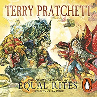Equal Rites                   By:                                                                                                                                 Terry Pratchett                               Narrated by:                                                                                                                                 Celia Imrie                      Length: 7 hrs and 42 mins     156 ratings     Overall 4.5