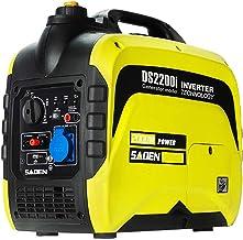 HIOD Generador de Emergencia Portátil Generador de Inversor 2000W, 2 Kva Generador de Gasolina , 21 kilogramos
