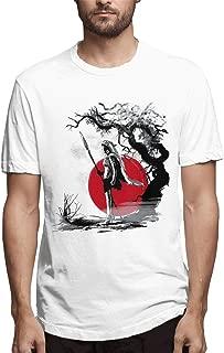 Red Princess Mononoke San Watercolor Mens Tee Funny Short Sleeve T-Shirt White