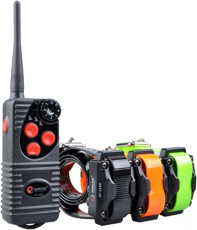 Aetertek At216s Rechargeable Dog Trainer Submersible Dog Shock Collar 550m Remote Dog Pet Electric Shock Control 3 Dog Training Anti Bark Shock Collar 100% Waterproof Dog Bark Collar