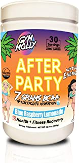 Gym Molly After Party with Caffeine 7g BCAA Powder - Workout Drink Supplement for Fitness Recovery | Contains 750 MG Cocon...