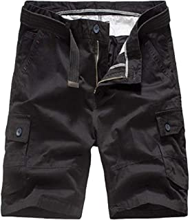 VITryst Mens Half Pants Multi-Pockets Oversized Straight-Fit Rip Stop Pants