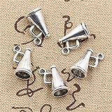30pcs Charms Loudspeaker Megaphone Cheerleading 15x9x9mm Antique Making Vintage Tibetan Silver Zinc Alloy Pendant