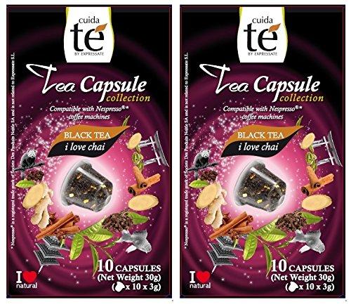 20 Nespresso Compatible Pods - Chai Spiced Black Tea, 2 Boxes - 10 Pods per box (20 pods total)