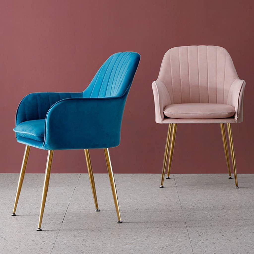 HXF- Chaise de salle à manger, chaise de bureau simple, dossier créatif, chaise de loisirs, chaise de salle à manger pour adulte durable (couleur : bleu foncé) Noir Foncé