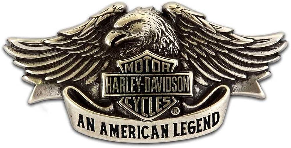 Harley-Davidson Mens Belt Buckle Brushed Chrome American Legend HDMBU10082
