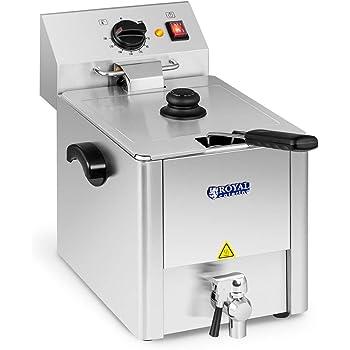 Royal Catering Freidora Electrica Profesional Para Hostelería RCEF 08EB (8 Litros, Potencia 3.200 Watt, Temperatura: 50 – 200 °C, Zona Fría, Tapa Incluida): Amazon.es: Hogar