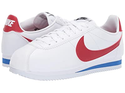 Nike Classic Cortez Leather (White/Red/Varsity Royal) Women