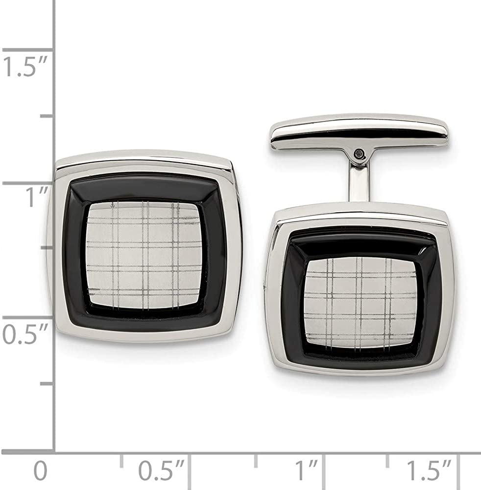 Stainless Steel Black IP-Plated Cufflinks